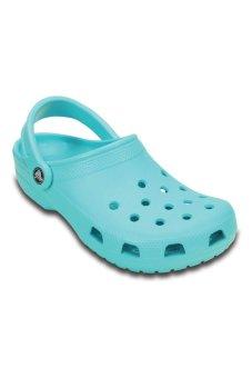 Giày lười nữ Crocs Classic Pool (Xanh)