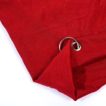 Men Women Knit Warm Ski Crochet Slouch Hat Unisex Cap Beanie Wine Red - intl
