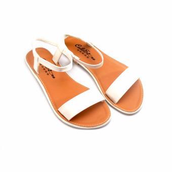 Giày xăng đan quai họa tiết GD43 (Nâu Trắng)