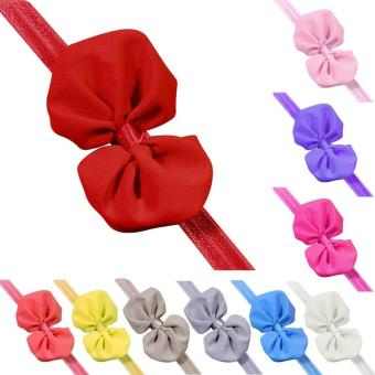 10Pcs Baby Girl Toddlers Chiffon Butterfly Bow Shape Headband Colorful Hair Band Hairpin Hairclip Headwrap Accessories - intl