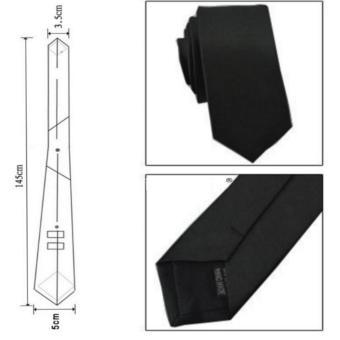 Cà Vạt Nam Bản Nhỏ Màu Đen