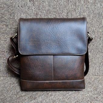 Túi đeo chéo nam da PU cao cấp TD01 (Nâu Cafe)