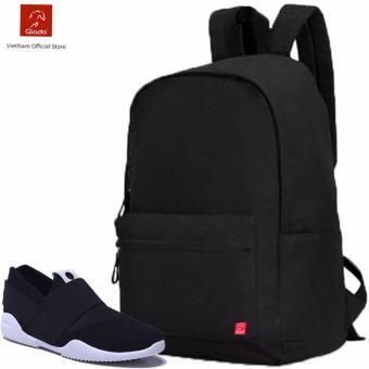 Combo Balo Cylinder Laptop BLL002BA + Giày Sneaker GS065BA (Đen) - CB020