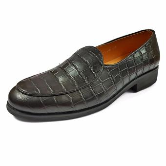 Giày Lười Nam Da Mờ Ensado HQ09 (Đen)