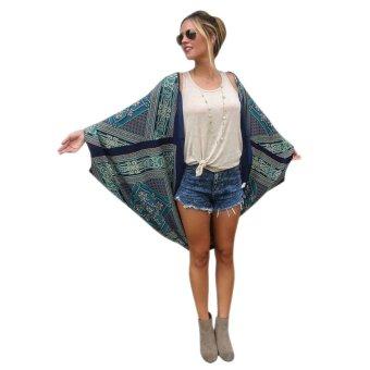 Fashion Women Chiffon Kimono Shirt Batwing Sleeve - intl