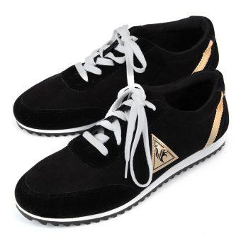 Men Canvas Flats Breathable Shoes (Black) - intl