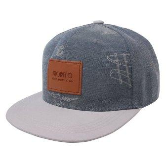 Fashion Unisex Men's Words Snapback Adjustable Baseball Cap Hip Hop Hats Blue,White - intl
