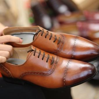 Giày da công sở nam Kazin màu nâu - KZN0046