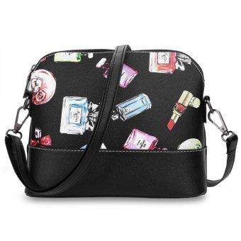 Shell Shape Print Dual Purpose Shoulder Messenger Bag --TC