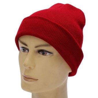 Unisex BBOY Hip-hop Wool Hat Fluorescent Knitted Turtleneck Beanies Warm Caps - Intl