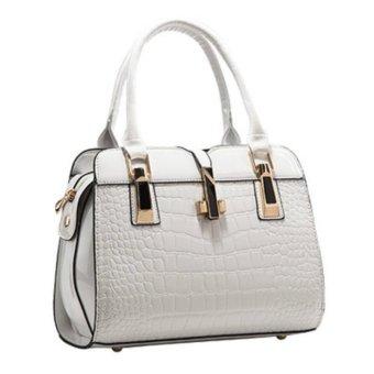 2017 Europe women leather handbags PU handbag leather women bag patent handbag (White) - intl