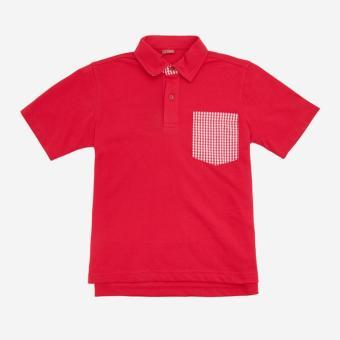 Áo thun polo trẻ em Antix màu đỏ