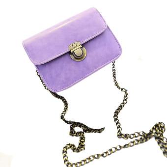 Lovely Girl Pu Leather Mini Small Adjustable Shoulder Bag Handbag Purple (Intl)