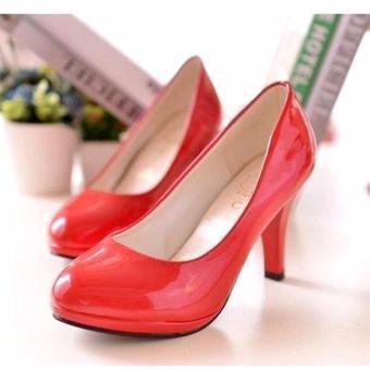 Giày cao gót 7cm dáng chuẩn văn phòng cho nàng thêm điệu đà - 182_màu đỏ