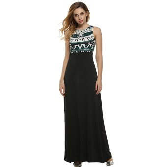 Cyber ANGVNS Elegant Vintage Style Women Lady Sleeveless High Waist Maxi Long Dress Casual Party Evening Full Gown ( Green ) - Intl