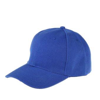 HKS Womens Men Sport Baseball Visor Cap Plain Blank Golf Ball Hat(blue) - intl