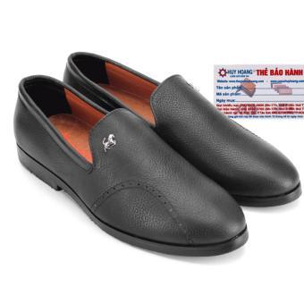 HL7738 - Giày nam Huy Hoàng đính ngựa màu đen