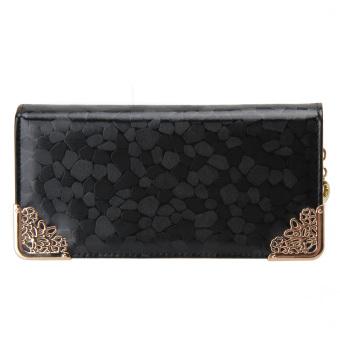 Spring Fasion Women Long Size Wallet PU Leather Bling Pattern Zipper Credit - intl