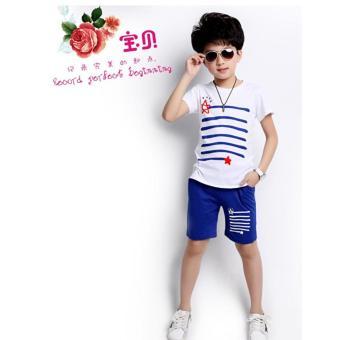 Set áo + quần cho bé mùa hè (xanh da trời)