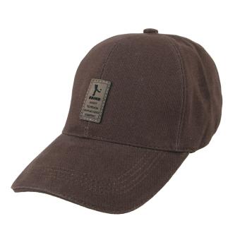 Golf Hat Sports Baseball Cap Adjustable Strap Back Trucker Hat (Coffee) - intl