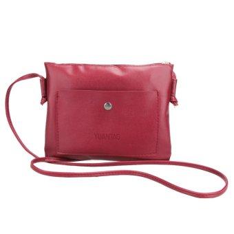 Fashion Women Small PU Leather Satchel Cross Body Shoulder Bag Handbag - intl