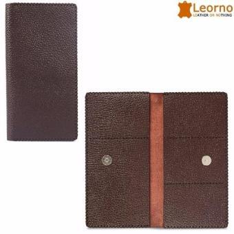 Ví da cầm tay unisex handmade Leorno - VD48 (Nâu)