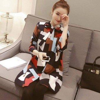 Váy sơ mi họa tiết- CN24