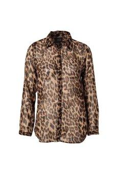 LapelWomen's Long Sleeve Leopard - Intl