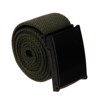 Unisex Webbing Canvas Belt Casual Waistband - Army Green - Intl