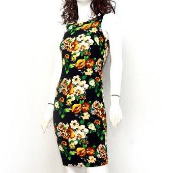 Đầm bút chì ôm dáng dài không tay MiDu Fashion (Hoa)
