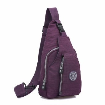 Chest Bag Handbag Diagonal Package Shoulder Messenger Crossbody Tote Wallet purple - intl