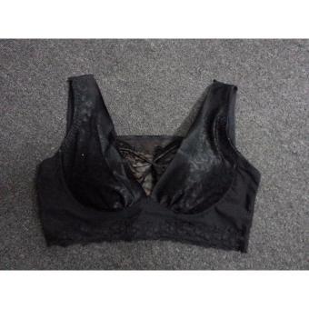 Áo lót nữ ren cao cấp màu đen, 8866, szie: M/70