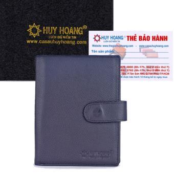 Ví đựng Passport Huy Hoàng bấm nút màu đen -HH9108