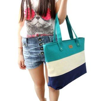 Women Canvas Handbags Shoulder Messenger Bags Green
