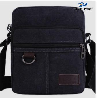 Túi đeo chéo canvas phối da Thành Long TL8109 2 (đen)