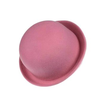 Wool Felt Bowler Fedora Hat Pink
