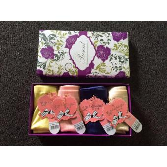 Bộ 4 quần chip nữ thun cotton cao cấp Laishiyin (free size)