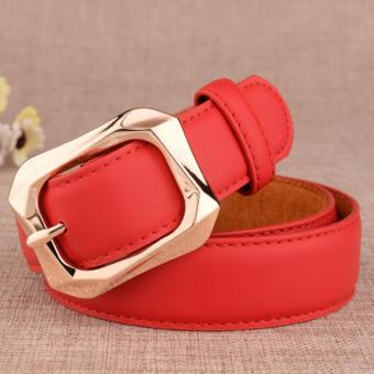 Dây lưng nữ to bản phong cách mới ROT007 (Đỏ) - 3707687