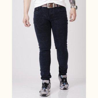 Quần jeans ống côn wash đốm SAIGONBOY J44A (Xanh Đen)