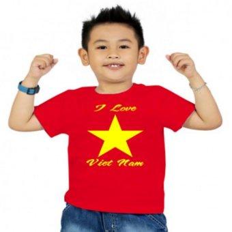 Áo thun bé trai Kỳ Khang BT14 (Đỏ)