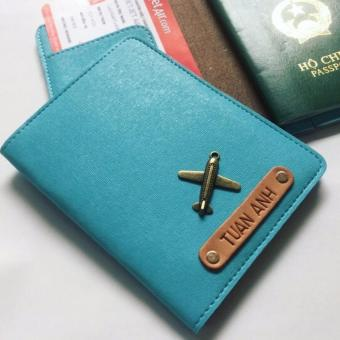 Bao Da Hộ Chiếu Passport Cover Abu90 PC08 (Xanh Da Trời)