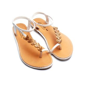 Giày xăng đan Lopez Cute D29 (Nâu Trắng)