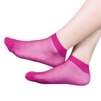 10 Pairs Ultra-thin Elastic Silky Short Silk Stockings Women Ankle Socks PP - intl