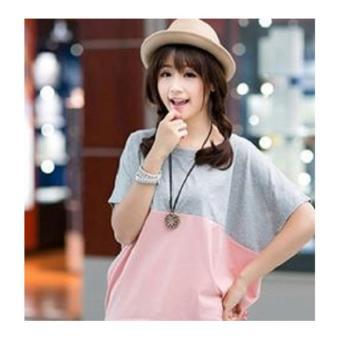 Áo thun cánh dơi Baojie Fashion - FH3001 ( Hồng phối xám).