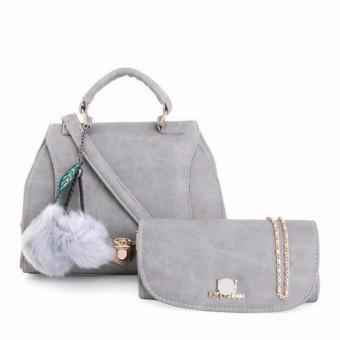 Set túi xách và ví cầm tay cao cấp Xám
