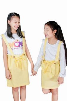 Áo Thun Tay Cánh Tiên, In Mom Genii Kids (Vàng)