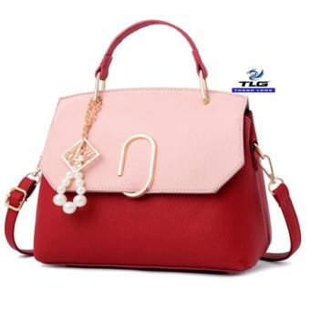 Túi đeo chéo thời trang Messenger phong cách THÀNH LONG TL8154 5(đỏ phối hồng)