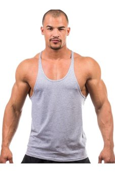 LALANG Fitness Sports Vest Tank Top Undershirt Grey - Intl