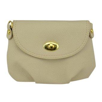 Women Handbag Messenger Bag Small Mini Casual Travel Satchel Purses Beige