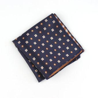 Men Pocket Square Hankerchief Korean Silk Paisley Dot Floral Hanky Wedding Party Style11 - Intl
